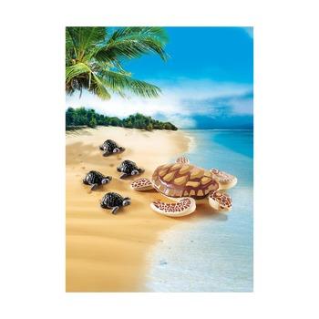Морская черепаха с детьми