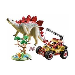 Исследовательский автомобиль и стегозавр