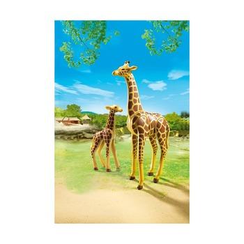 Жираф со своим детенышем жирафом