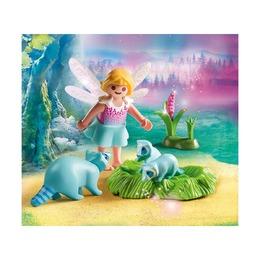 Девочка-фея с енотами