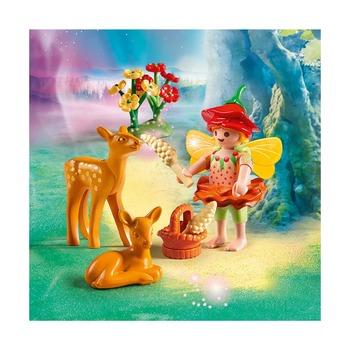 Девочка-фея с оленятами