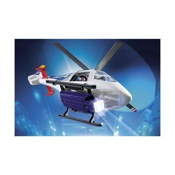 Полицейский вертолет с LED прожектором
