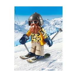 Лыжник с палками