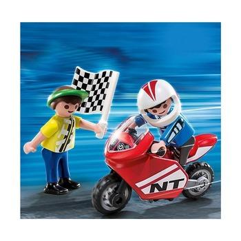 Мальчики с гоночным мотоциклом