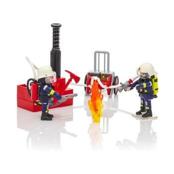 Пожарные с водяным насосом