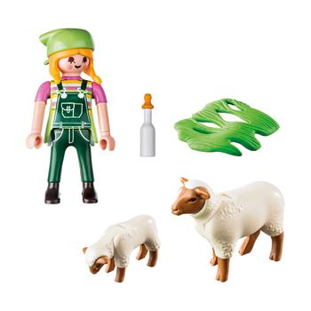 Фермерша с овцами