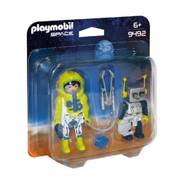 Астронавт и робот
