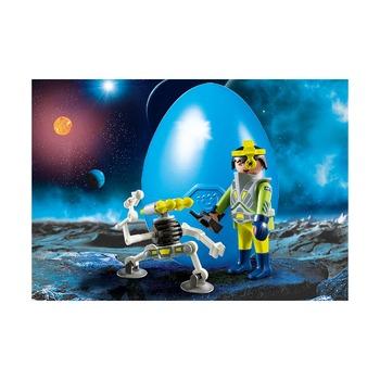 Пасхальное яйцо Космический агент с роботом