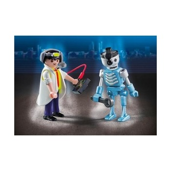 Ученый с роботом