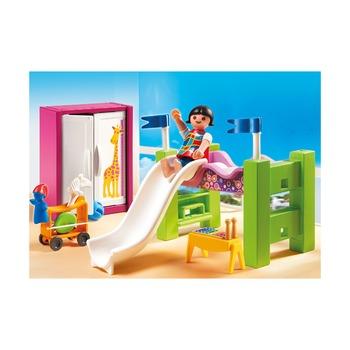 Детская комната с двухъярусной кроватью-горкой