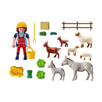 Фермер с домашними животными