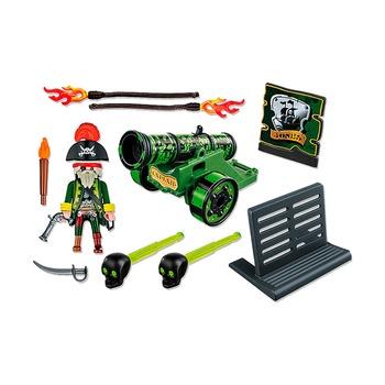Зеленая интерактивная пушка с капитаном пиратов