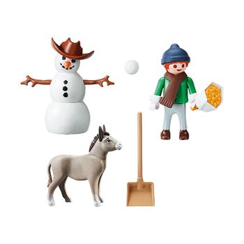 Снеговик с осликом