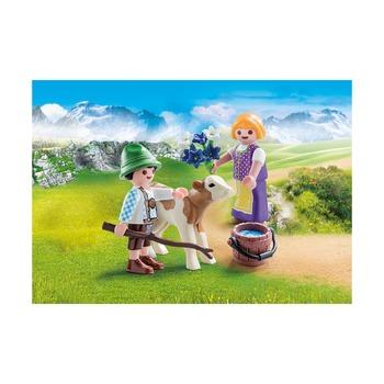 Дети с теленком