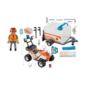 Спасательный квадроцикл с прицепом