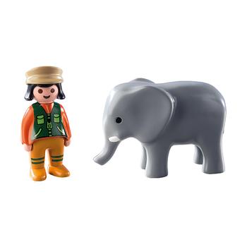 1.2.3. Смотритель зоопарка со слоном