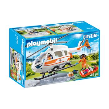 Аварийный автомобиль + спасательный вертолет