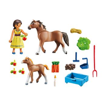 Пру с лошадью и жеребенком + загон