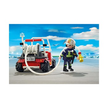 Операция по тушению пожара с водяным насосом + пожарный квадроцикл