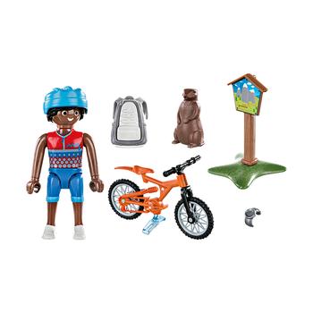 Горный велосипедист