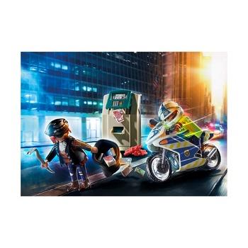 Погоня за грабителем на мотоцикле