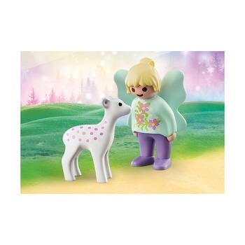 Подружка феи с детенышем косули