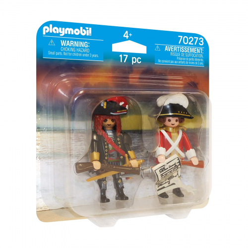 Пират и пехотинец в красном мундире