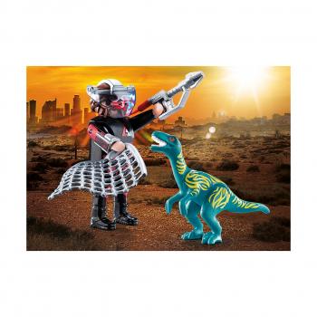 Велоцираптор с ловцом динозавров